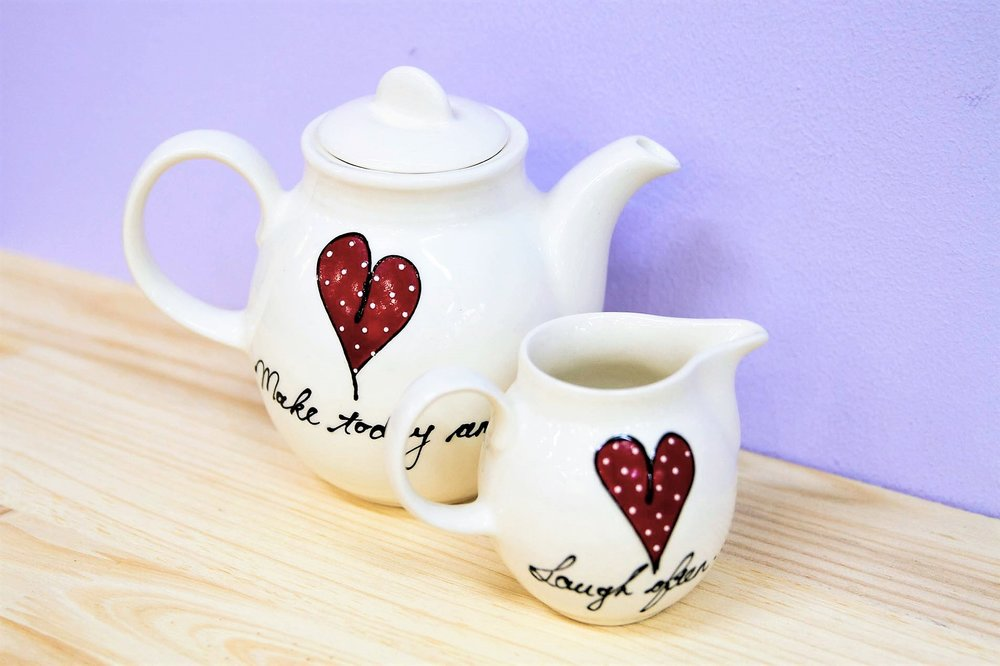 Teapot & Milk Jug - R 140 to R 375 - Designs as pictured.