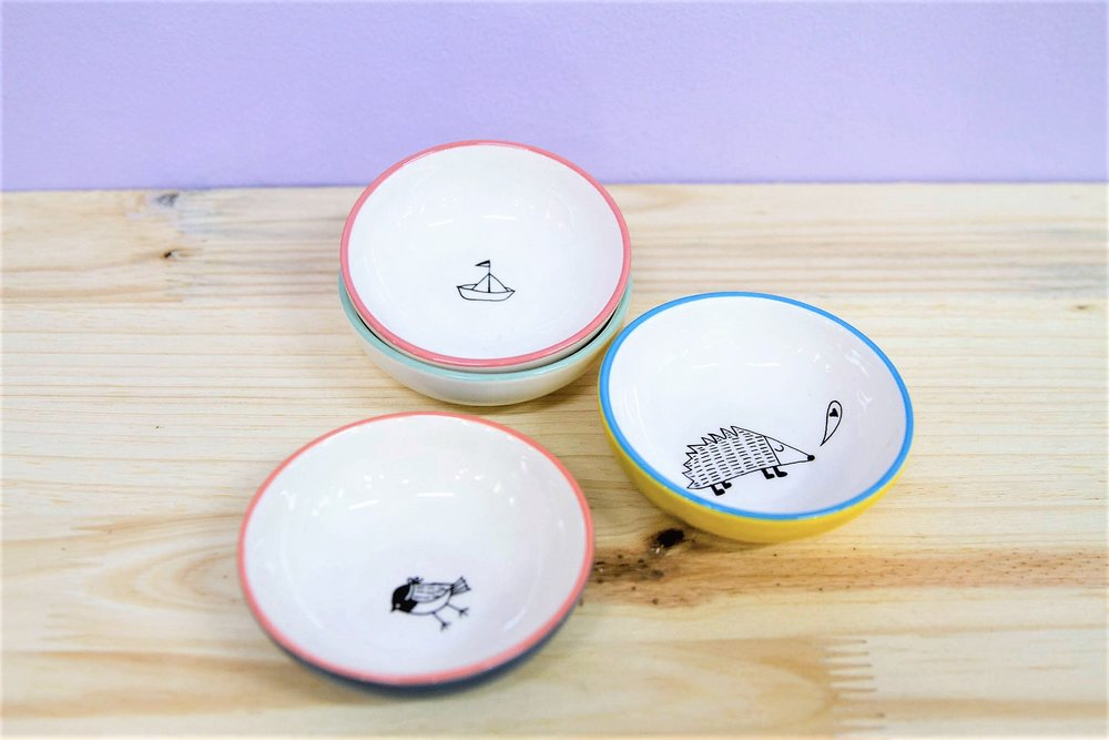 Various Trinket Bowls - R 180 each - Various designs available - please inquire.