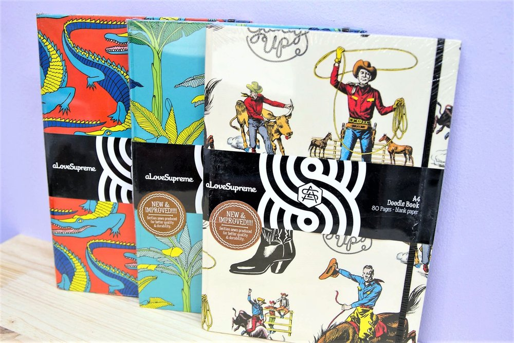A4 Hardcover Doodle Books - R 195 each - A hardcover book - perfect for doodling and keeping notes.