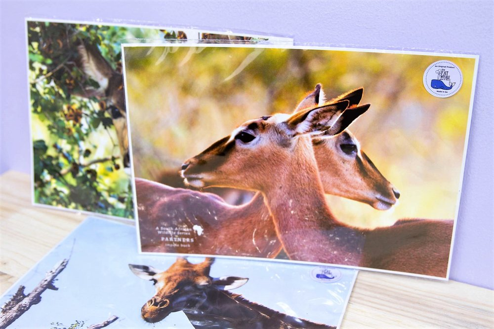 South Africa A4 Prints - R 85 each - An array of different animals make up this wildlife collection. For more info click here.
