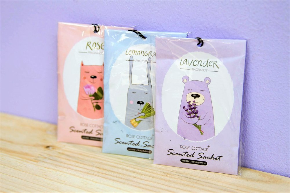 Scented Sachets - R 20 each - Available in Rose, Ocean, Lavender and Lemongrass.