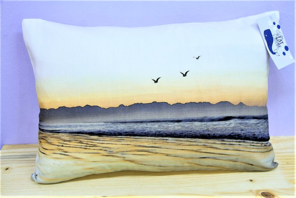 Beach & Birds Cushion Cover - R 330 - Rectangle - Inner Sold Separately.