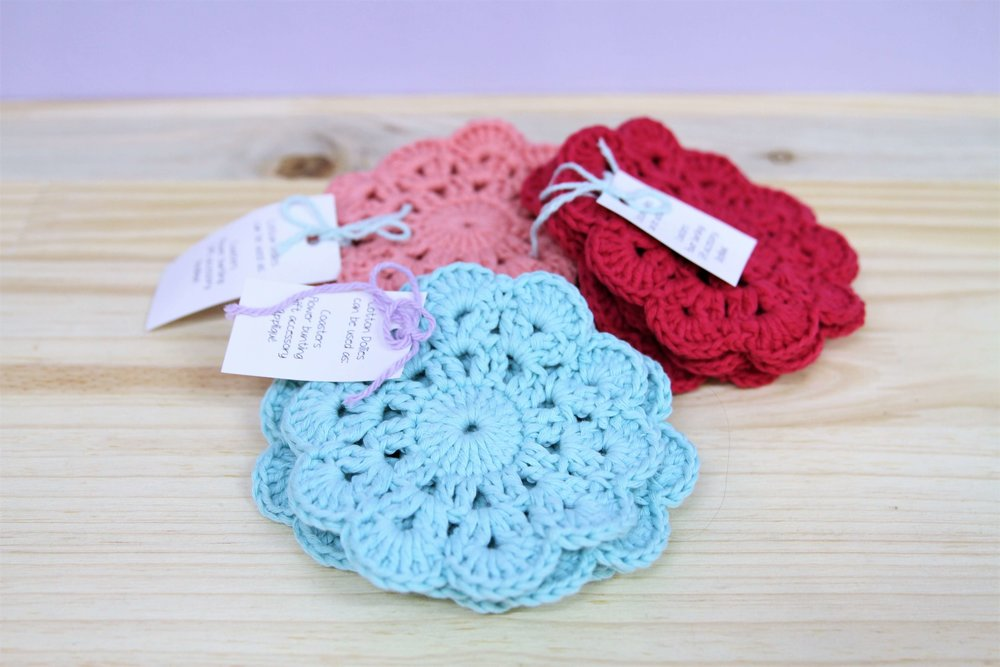 Crochet Doilies - R 120 set of 4 - Various colors available - can be used as coasters, decor and gifts.