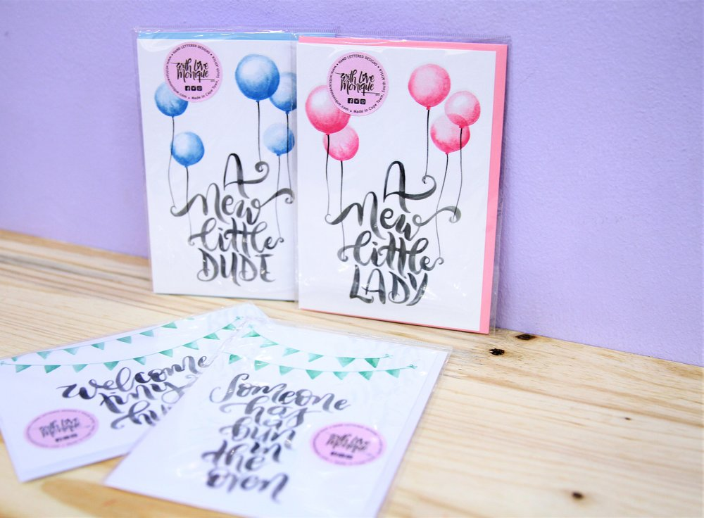 Baby Themed Cards - R 40 each - Loads of designs available - please inquire.