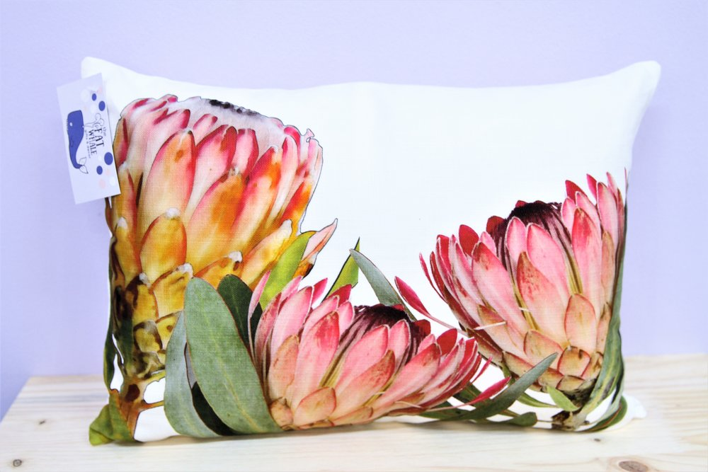 Protea Trio Cushion Cover - R 330 - Rectangle - Inner Sold Separately.