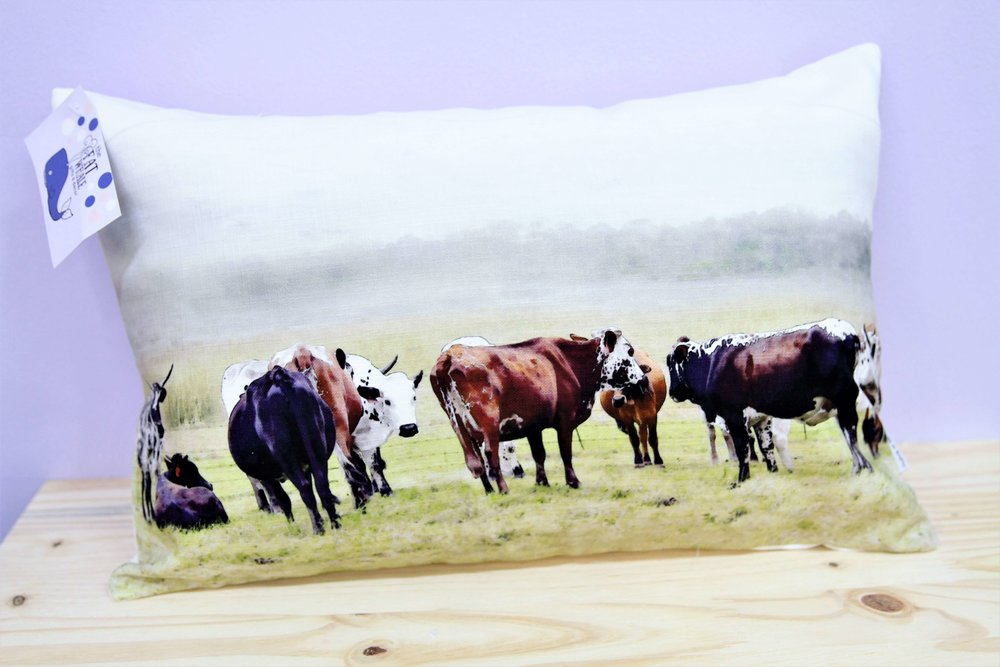 Nguni Herd Cushion Cover - R 330 - Rectangle - Inner Sold Separately.