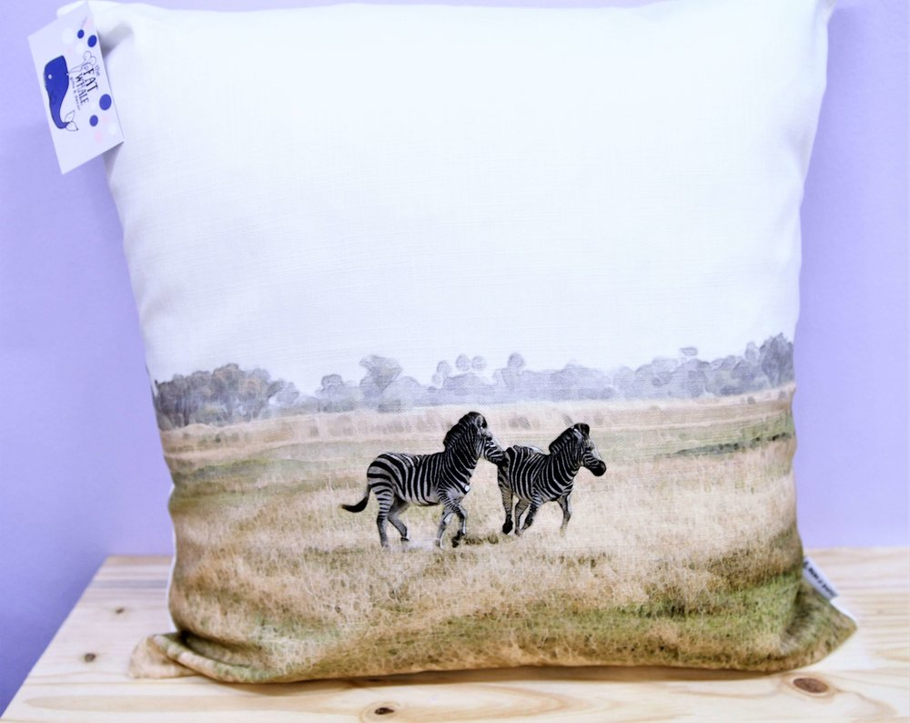 Zebra Cushion Cover - R 365 - Square - Inner Sold Separately.