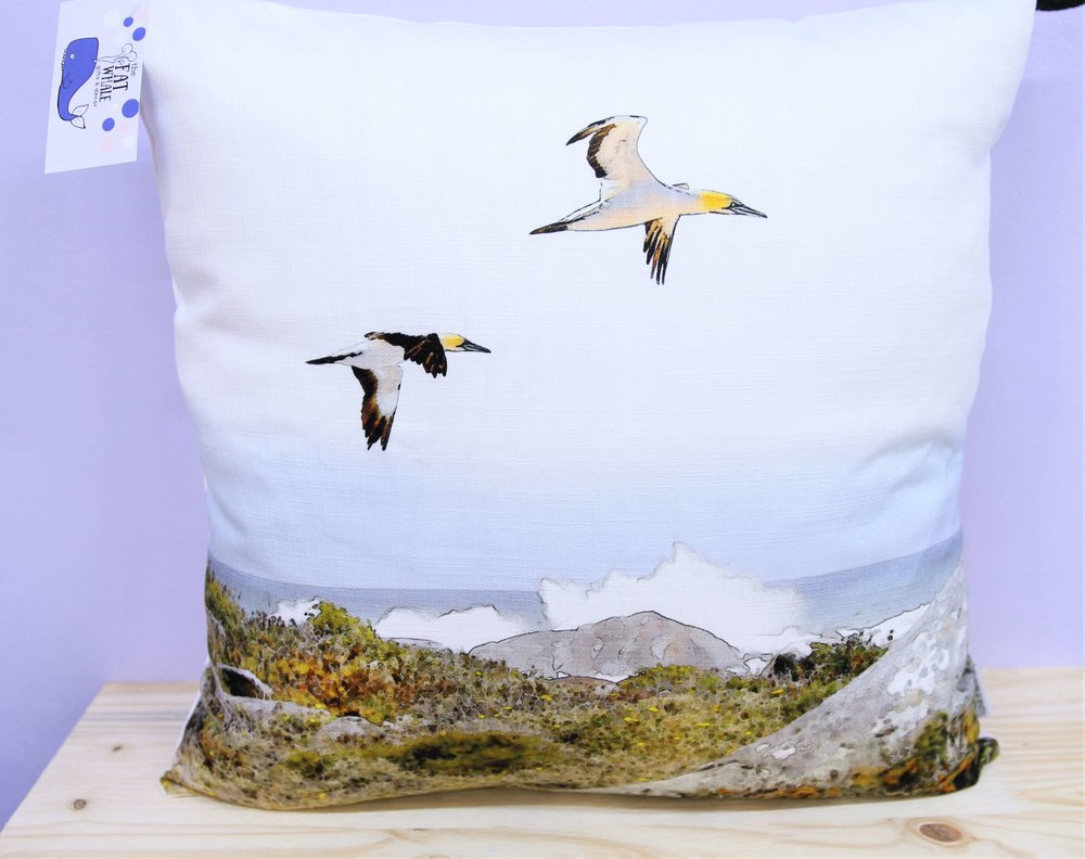 Coastal Birds Cushion Cover - R 365 - Square - Inner Sold Separately.