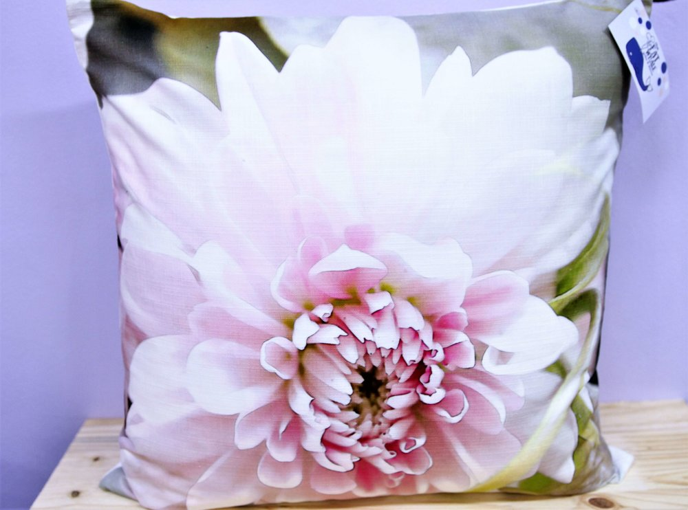 Pink Flower Cushion Cover - R 365 - Square - Inner Sold Separately.