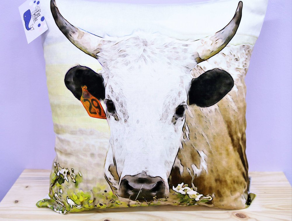 No. 29 Nguni Cushion Cover - R 365 - Square - Inner Sold Separately.