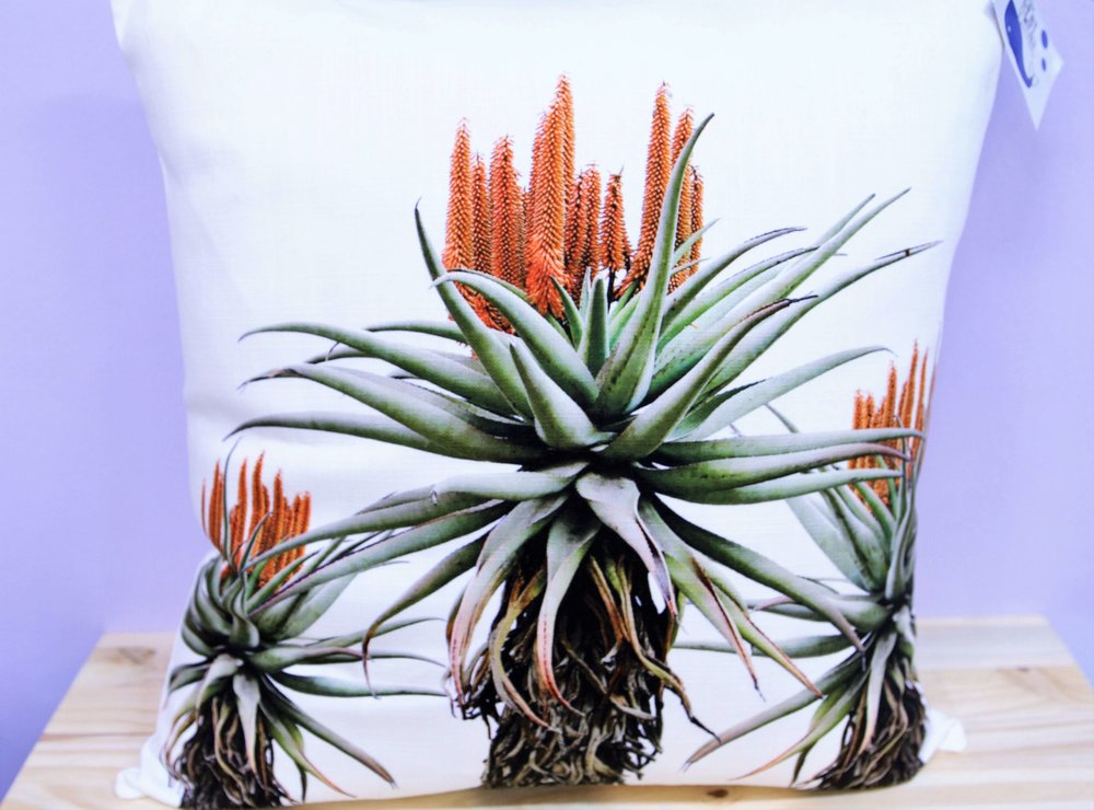Aloe Trio Cushion Cover - R 365 - Square - Inner Sold Separately.