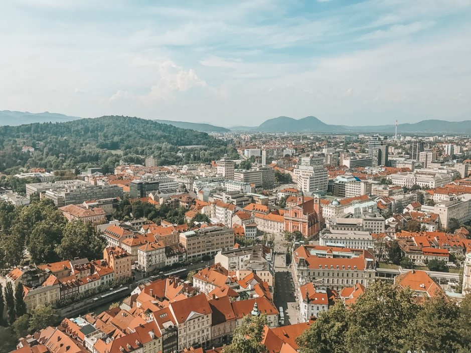 Ljubljana is a perfect example of European architecture - colorful, inviting and neat (and this is the view you can enjoy if you go up to the castle)