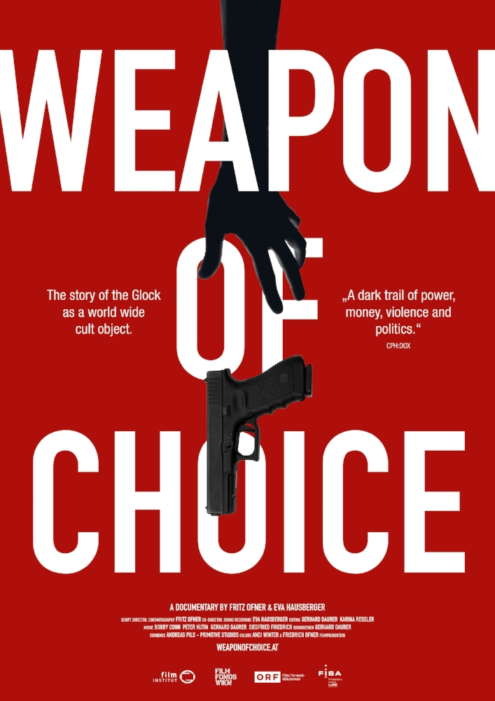 "Weapon Of Choice - ""A cult object of Austrian invention and a bestseller in the USA: the Glock. The semiautomatic rapid fire weapon is one of Austria's export hits, but not a lot about its questionable meaning reaches the public realm. In their impressive and precisely researched documentary, Weapon of Choice, Fritz Ofner and Eva Hausberger investigate the myth and history of the Glock: an Austrian story of looking the other way."" (DIAGONALE)"