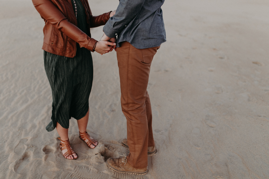 Couples Engagement Photographer, Desert Sunrise Session at Jockeys Ridge State Park, North Carolina