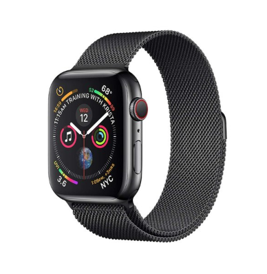Apple Watch Series 4 Space Black Stainless Steel Case with Space Black Milanese