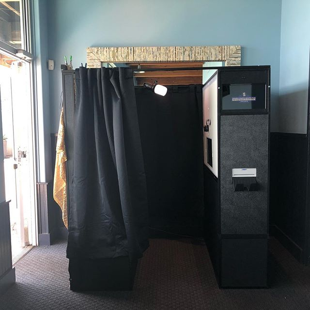 Enclosed booth in action today at @missionrock in #SF for a corporate party.