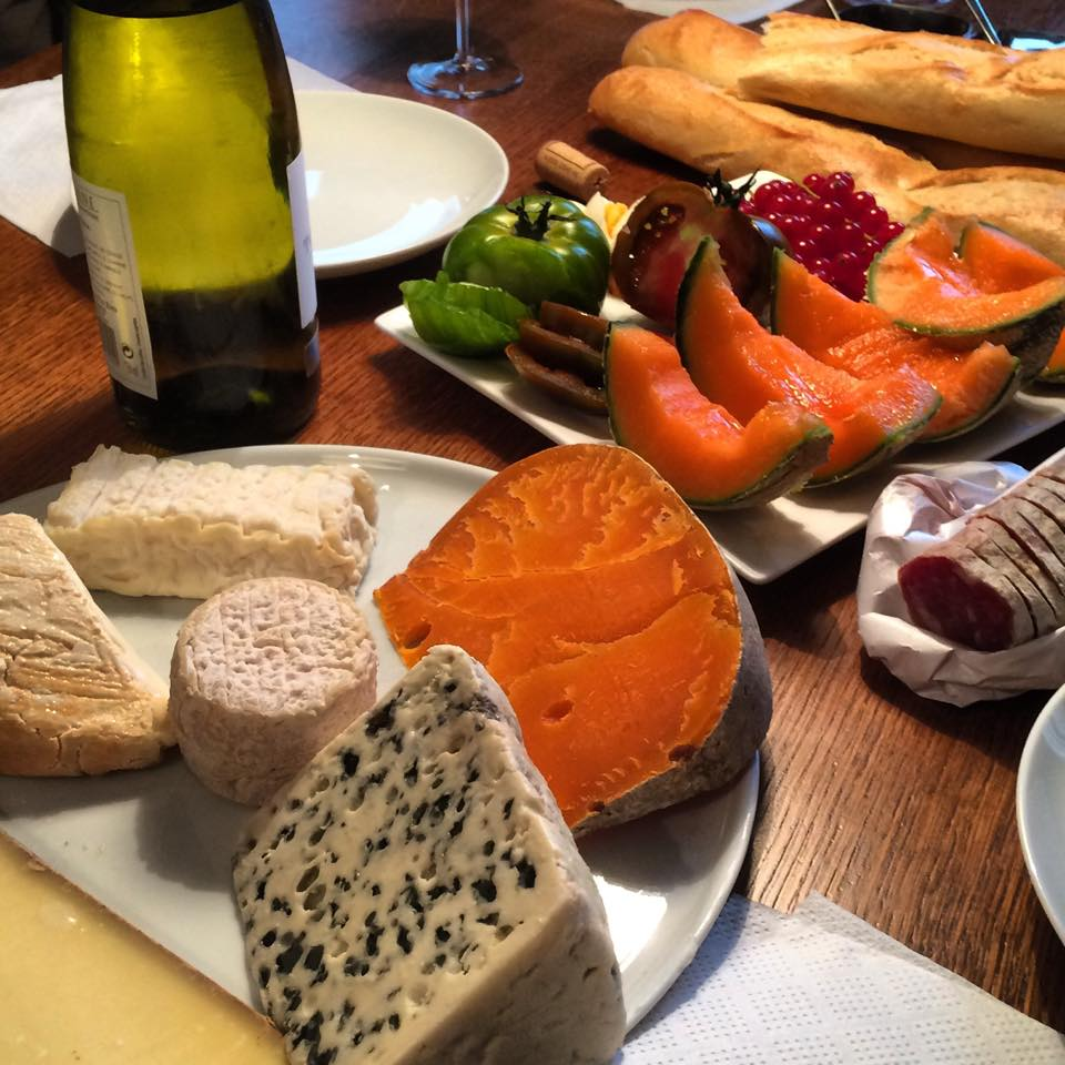 I still remember the ritual of making this cheese plate in Paris. It was such a lovely day.