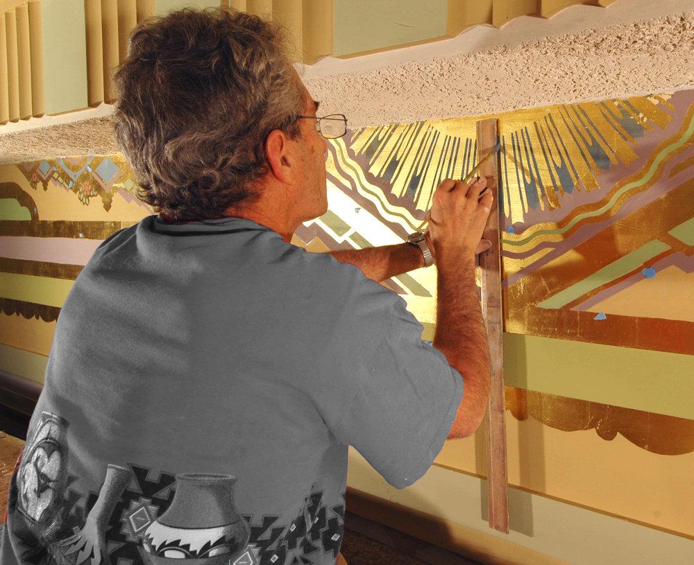 Ogden HS Auditorium Restoration - Gold Leafing.jpg