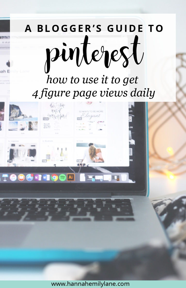Pinterest is one of the best platforms for bloggers and it helped me to achieve a daily average of over 2,000 views. Here's an easy guide for how to use Pinterest to grow your blog | www.hannahemilylane.com