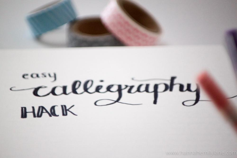 Easy Calligraphy Hack Hannah Emily Lane