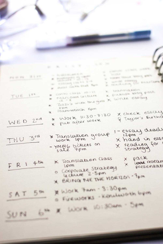My bullet journal setup for university | www.hannahemilylane.com