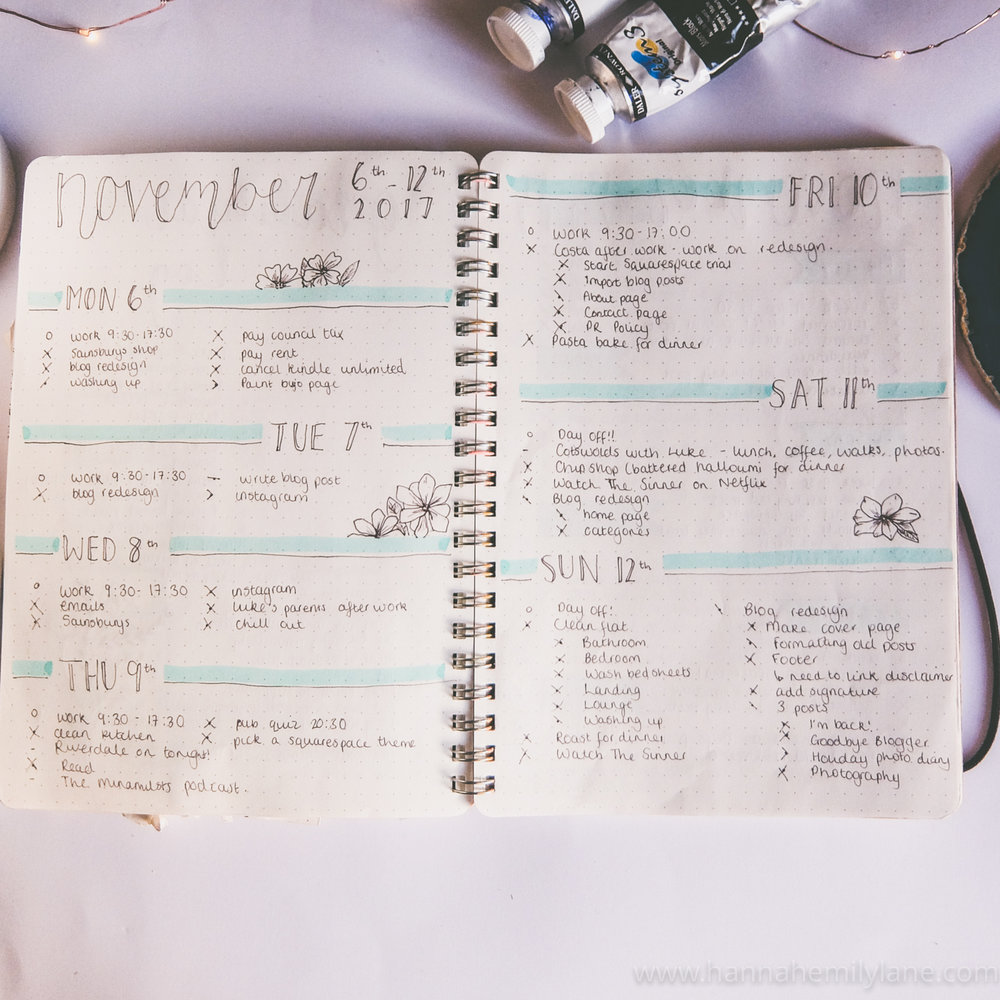 How I Used My Bullet Journal In November | www.hannahemilylane.com