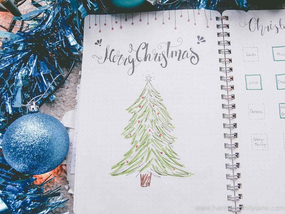 How to use your bullet journal at Christmas | www.hannahemilylane.com