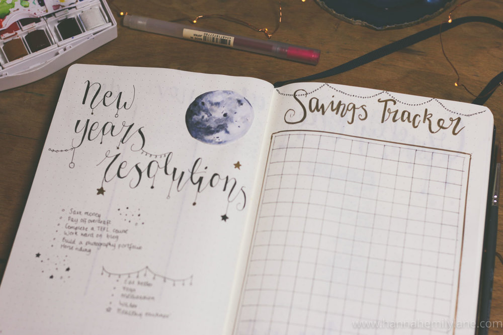 2018 Bullet Journal Set Up | www.hannahemilylane.com