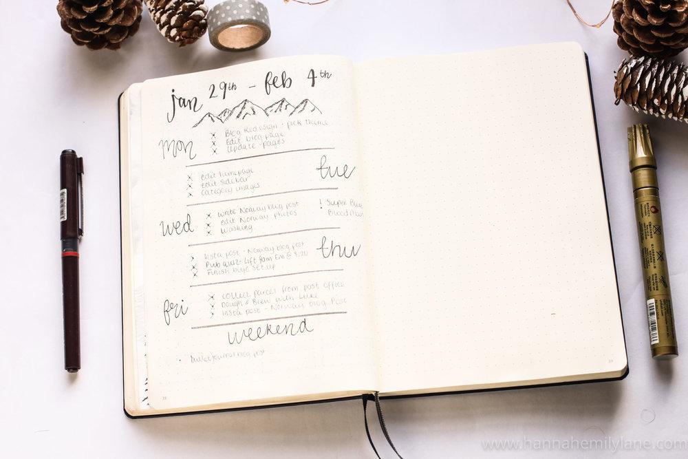 Bullet Journal Setup  | www.hannahemilylane.com