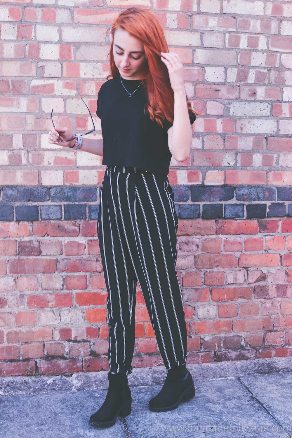 Shop this outfit: - Trousers: H&MTop: ASOSBoots: Old (Similar)Necklace: ASOS