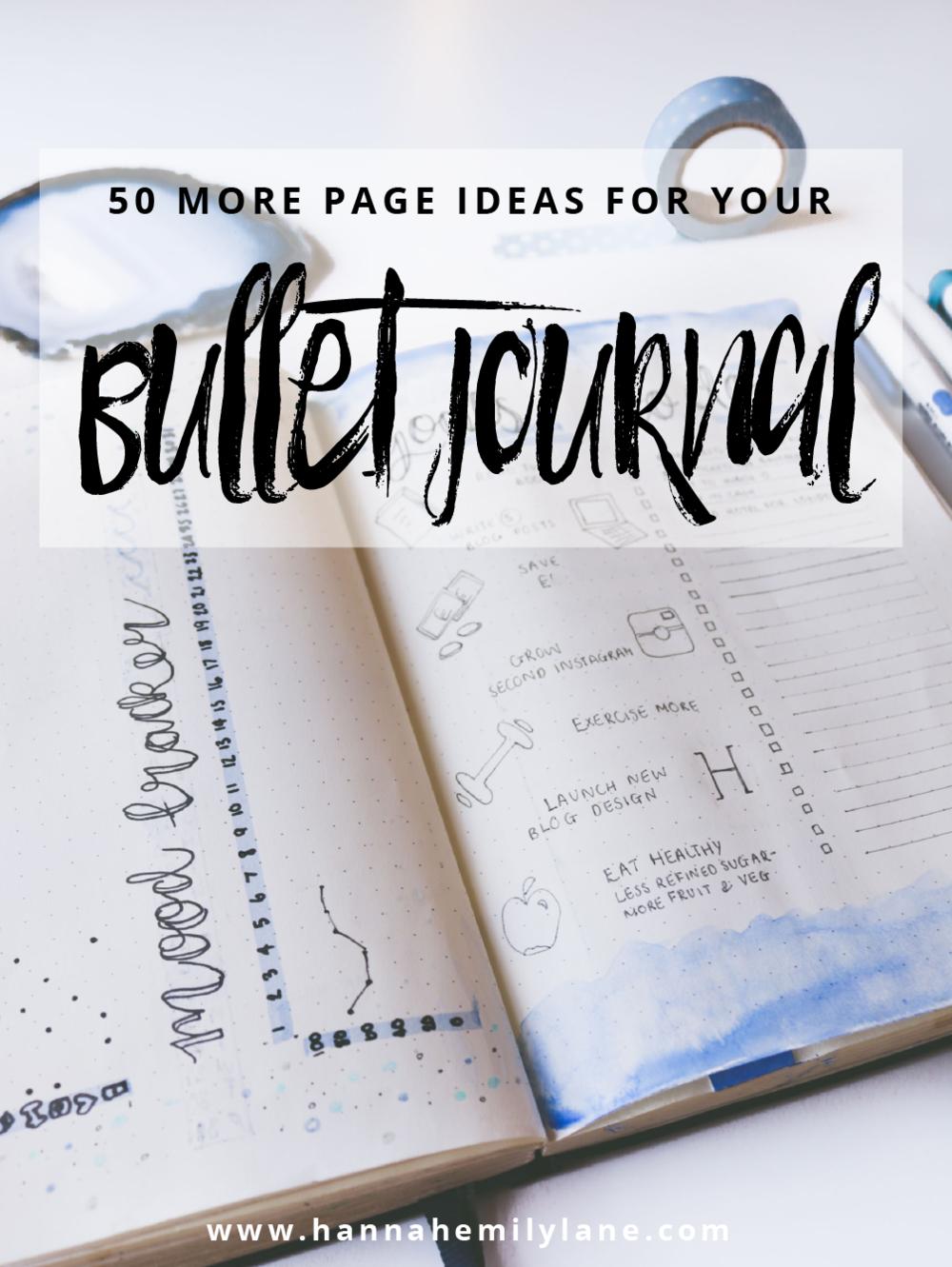 50 Page Ideas for your Bullet Journal | www.hannahemilylane.com