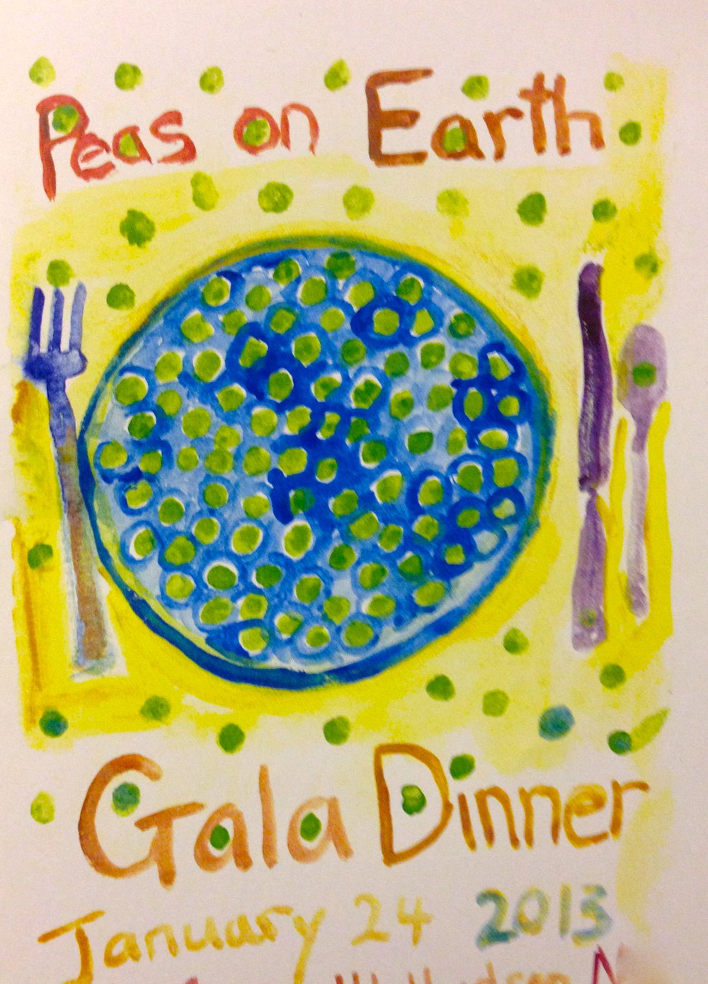 Invitation -Peas on Earth Gala Dinner