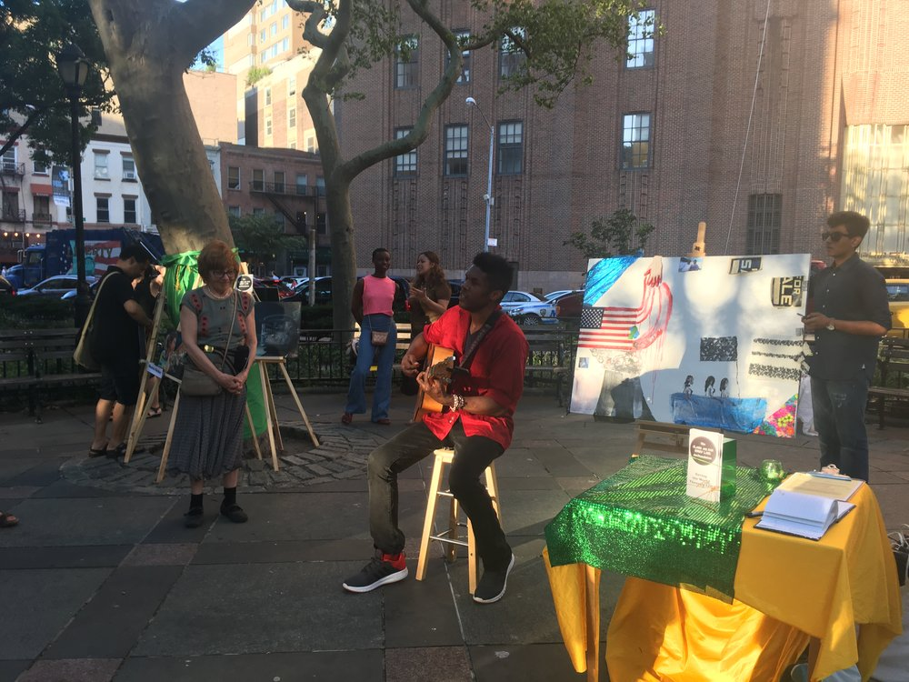 Rahi High - Artists in The Parks  Tribeca Art Night