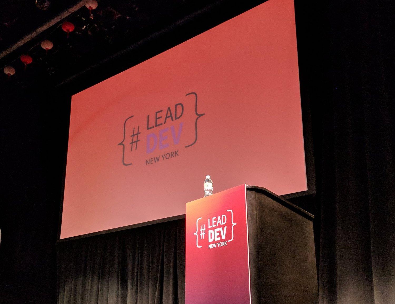 Conference report: The Lead Developer NYC 2018 — No Idea Blog