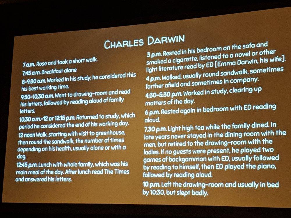 Darwin found plenty of time for non-work.