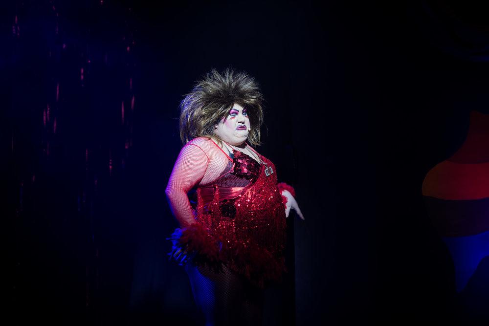 Priscilla Queen of the Desert man in drag narrator