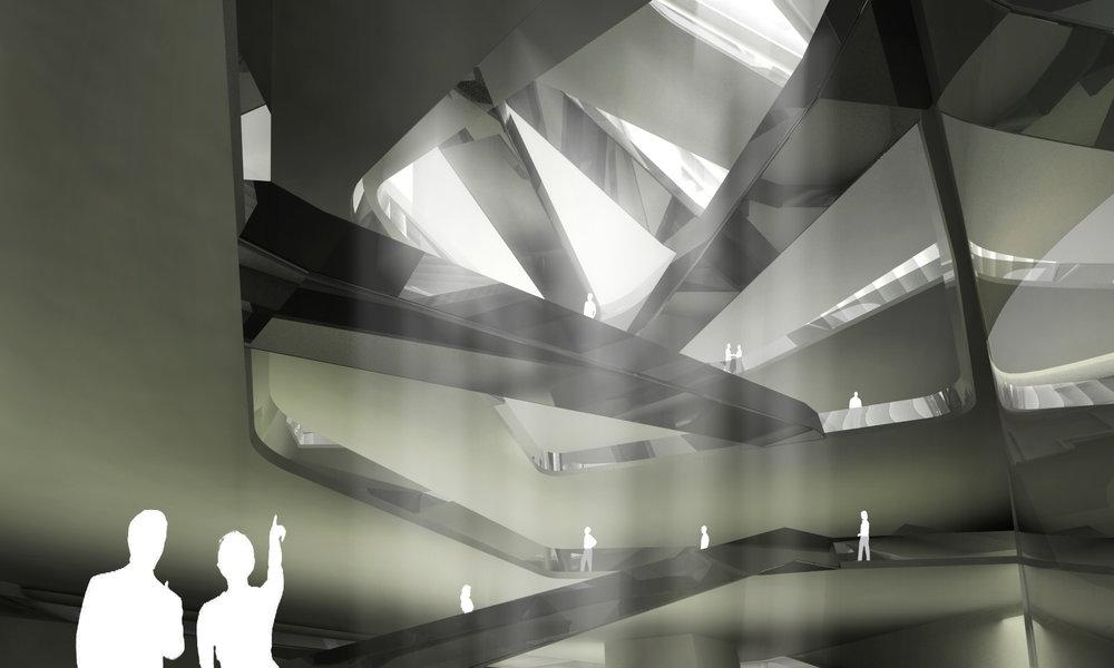 Interior atrium.