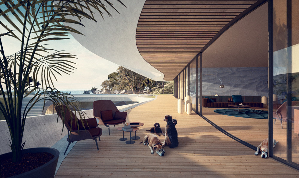 Each appartment connects seamlessly to an extensive terrace area with panoramic views across the strait of Gibraltar