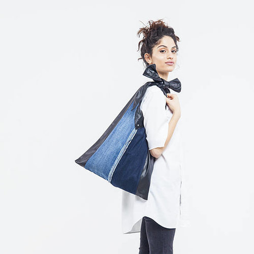 KinsuAtelier  - Brand  Upcycled denim bag