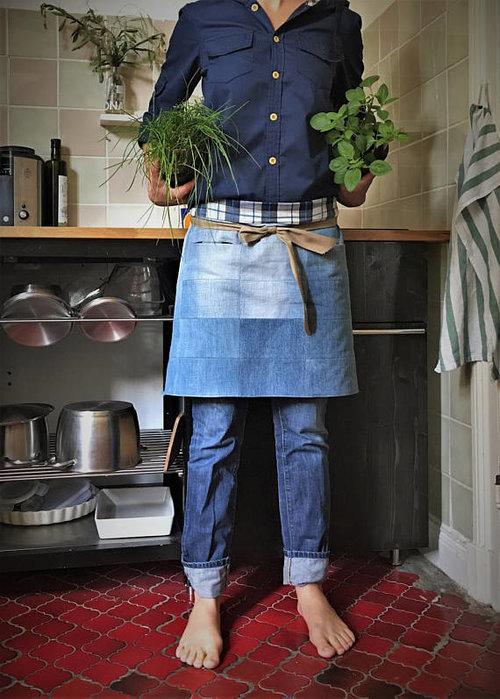 kiudkiud - Brand  Patchwork waist apron