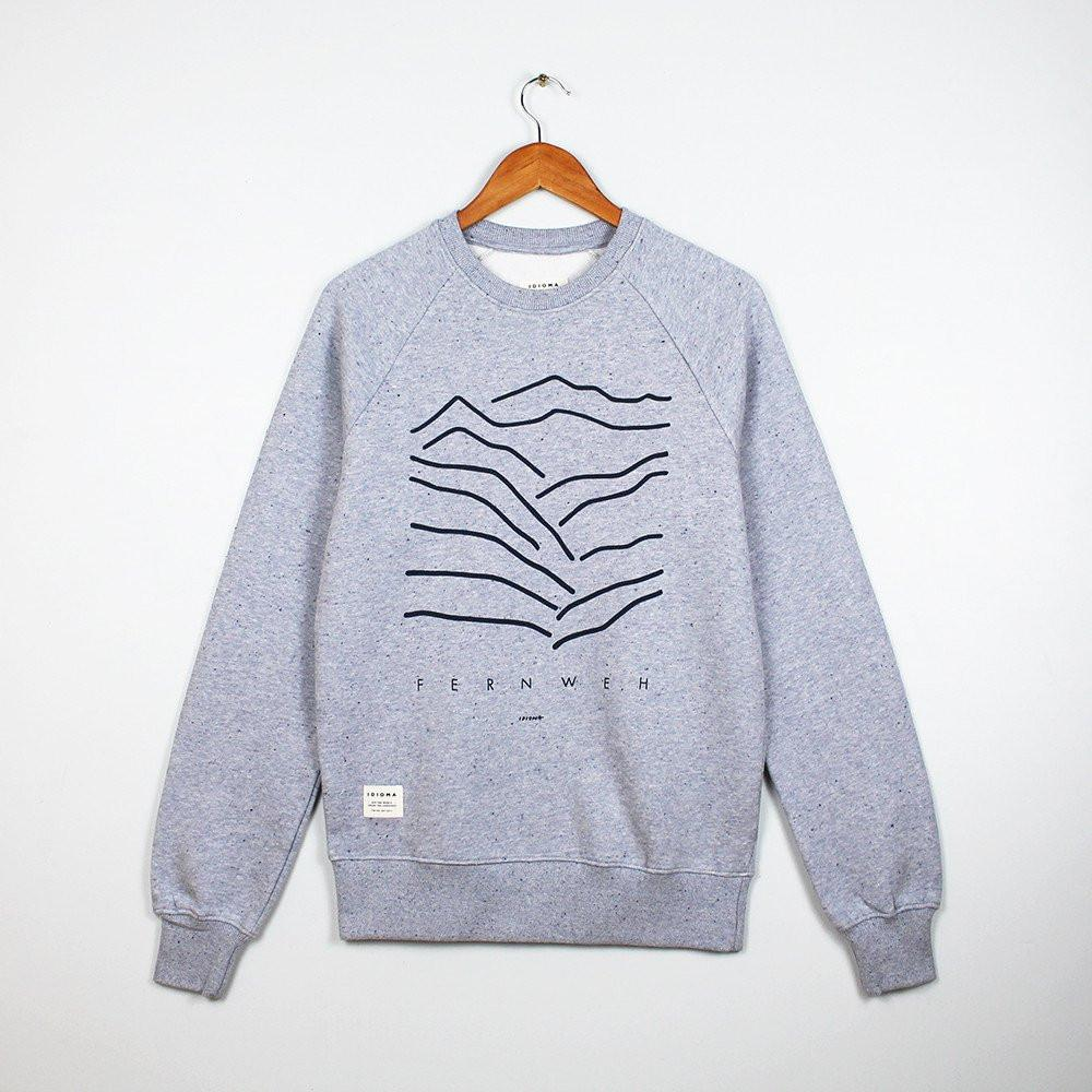 Idioma Organic Fernweh Cloud Grey Sweatshirt