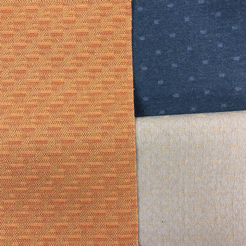 Sorting textiles.