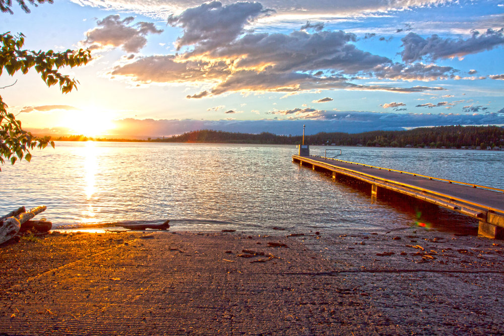 Wayfarers State Park  - Area residents in the know will tell you that the best sunsets on Flathead Lake can be viewed from Wayfarers at Flathead Lake State Park. The rocky cliffs along the shoreline offer beautiful vistas of the lake at any time of day. Enjoy camping, boating, swimming.