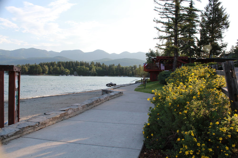 Whitefish City Beach - Good luck finding parking! Growing up in Whitefish as a kid I have many fond memories of riding by bike down to the beach.