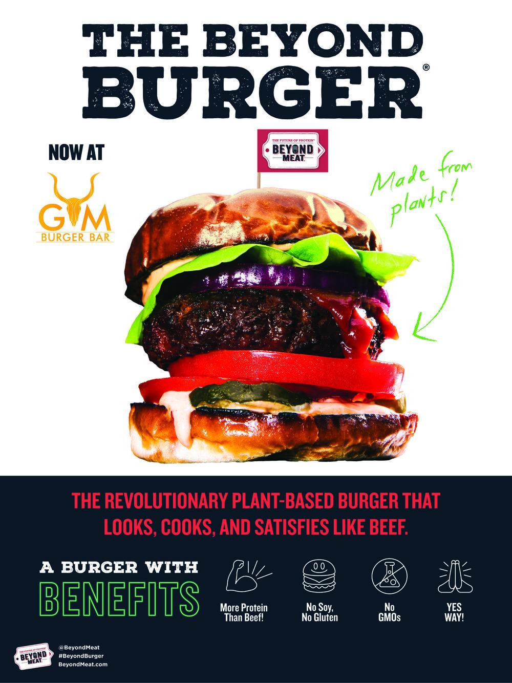 Beyond Burger promotion, plant based burger