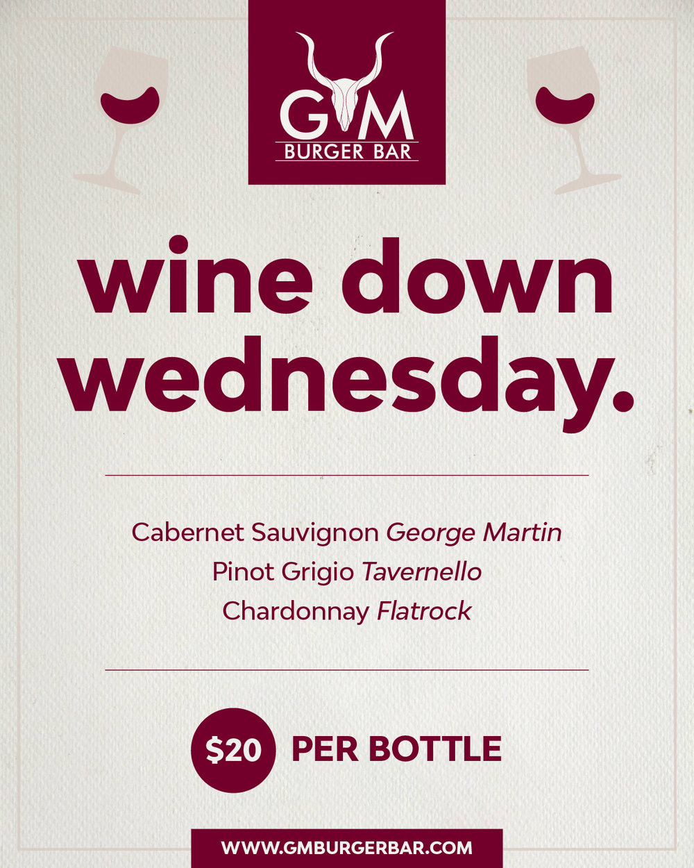 Wind Down Wednesday special flyer