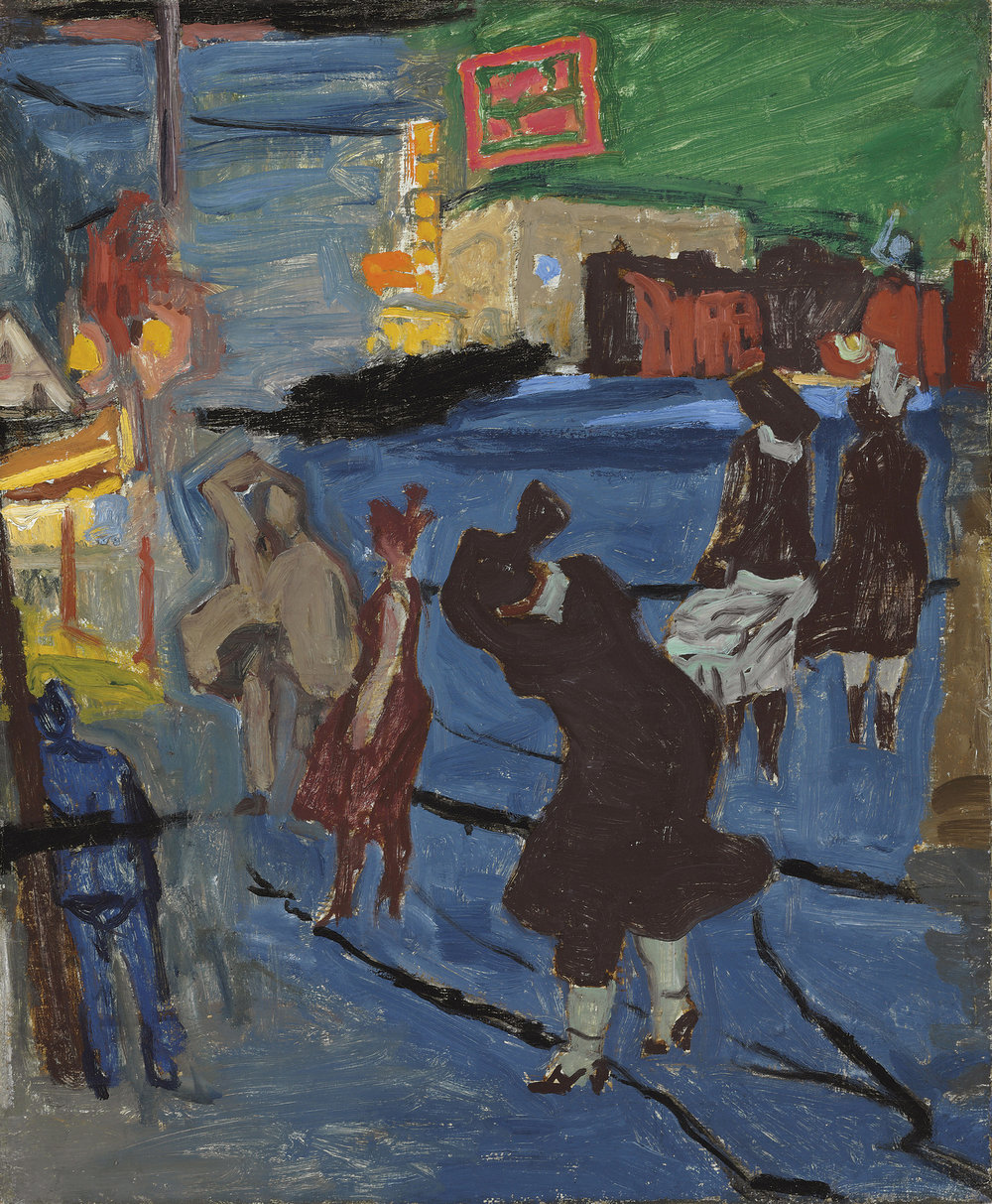 Image Credit: Windy Night, Newark, 1917. Stuart Davis (1892 - 1964). Private Collection. © Christie's