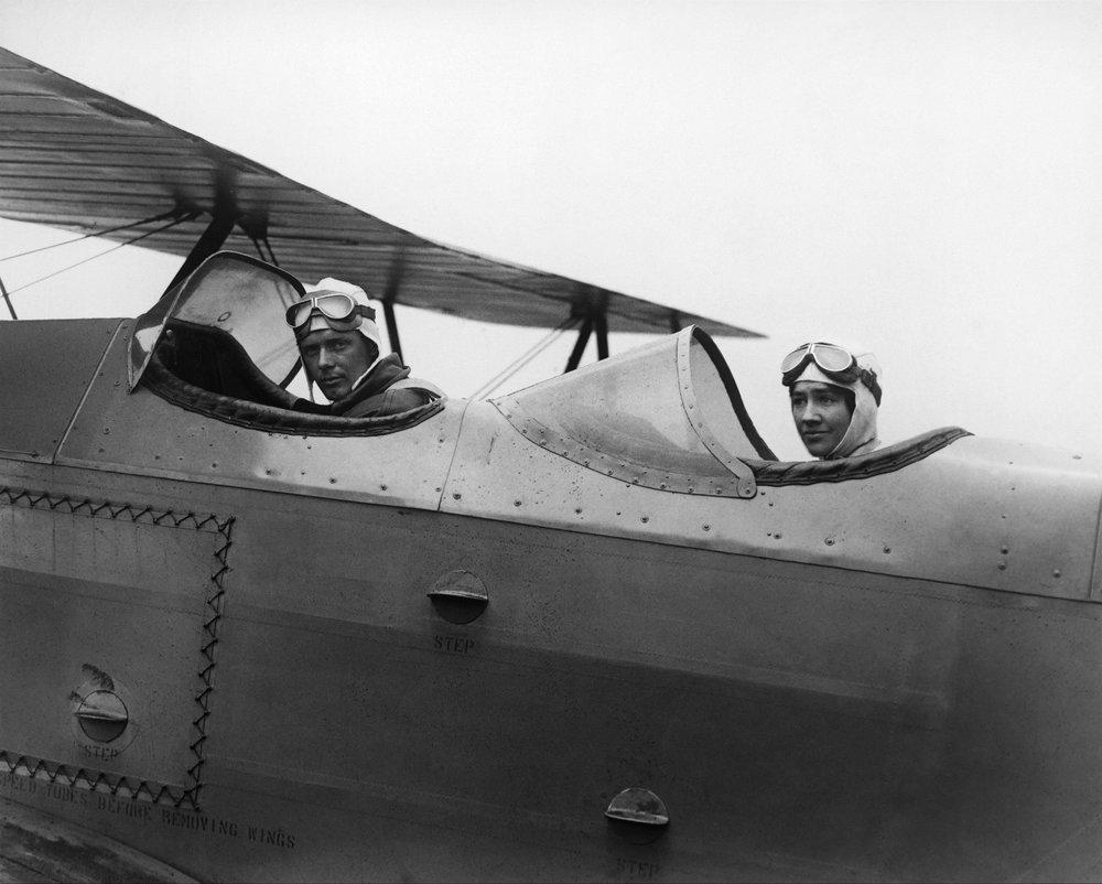 Charles and Anne Morrow Lindbergh leaving Roosevelt Field on Long Island, 1929. (Keystone-FranceContributor)..jpg