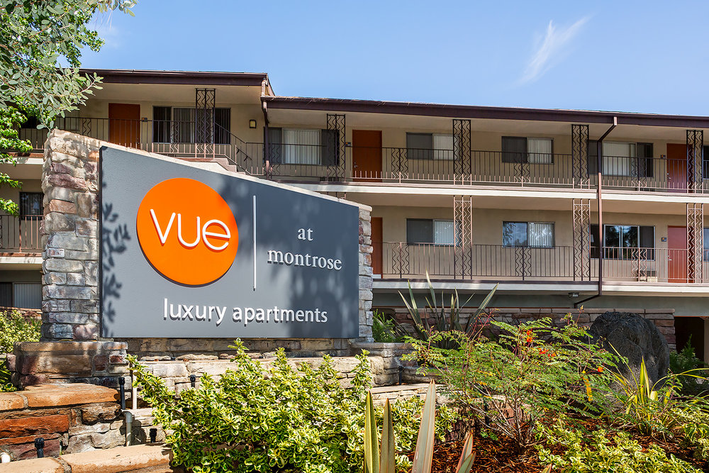 Vue, Luxury Apartments, Signage