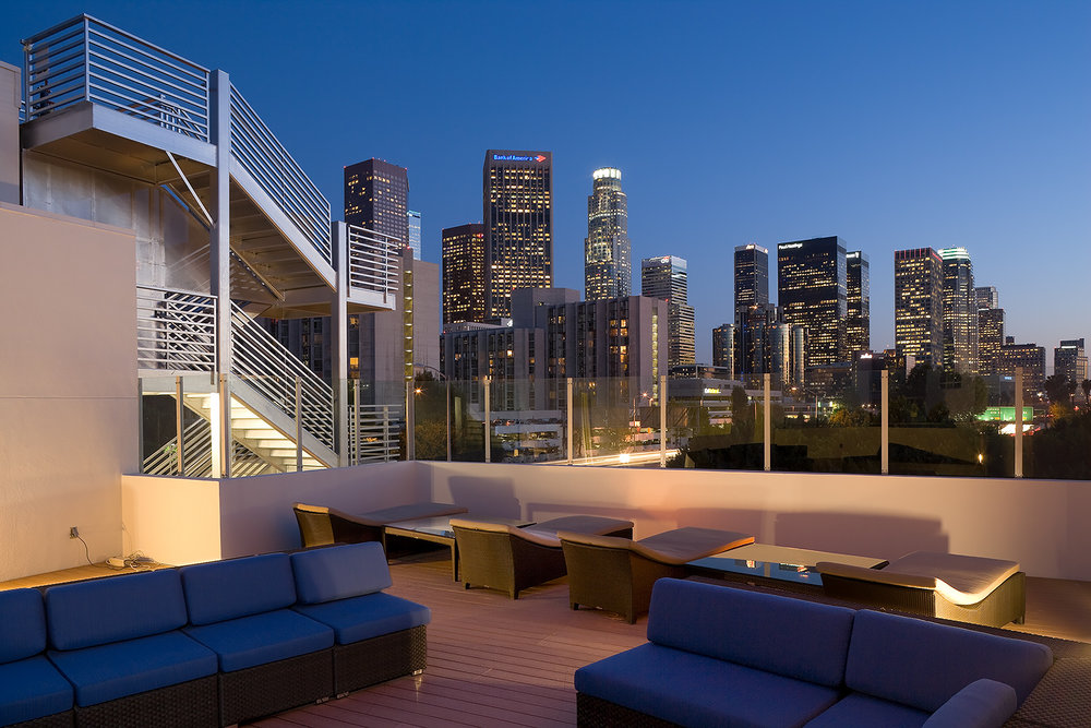 Roof Top with View of Los Angeles